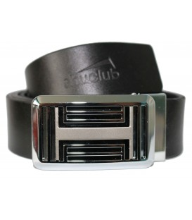 RECTANGULAR BUCKLE REAL LEATHER BELT
