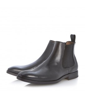 BLACK SLIP ON CHELSEA BOOTS