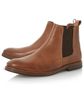 BROWN SLIP ON CHELSEA BOOT