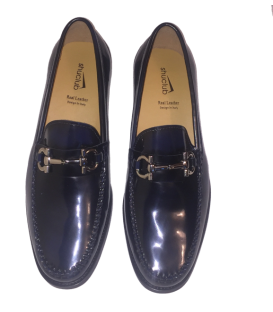 BLUE RUB OFF LEATHER LOAFER