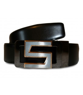 BURNISH REAL LEATHER BELT