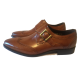 LEATHER SINGLE MONK SHOES